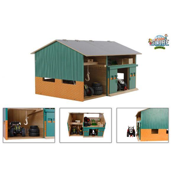 Maskin og foderhus Kids Globe i træ