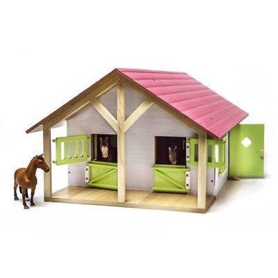 Hestestald Kids Globe med 2 hestebokse i træ