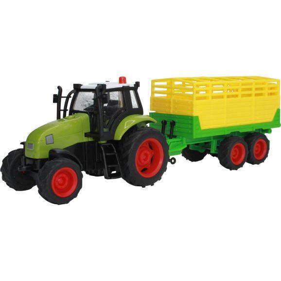 Farm Set Kids Globe Traktor m vogn Køer Hegn Halm