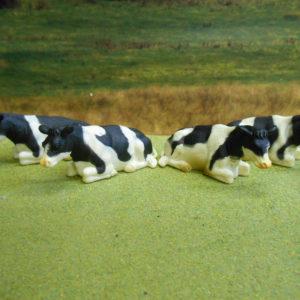Sorte Hvide Køer fra Kids Globe - 12 stk