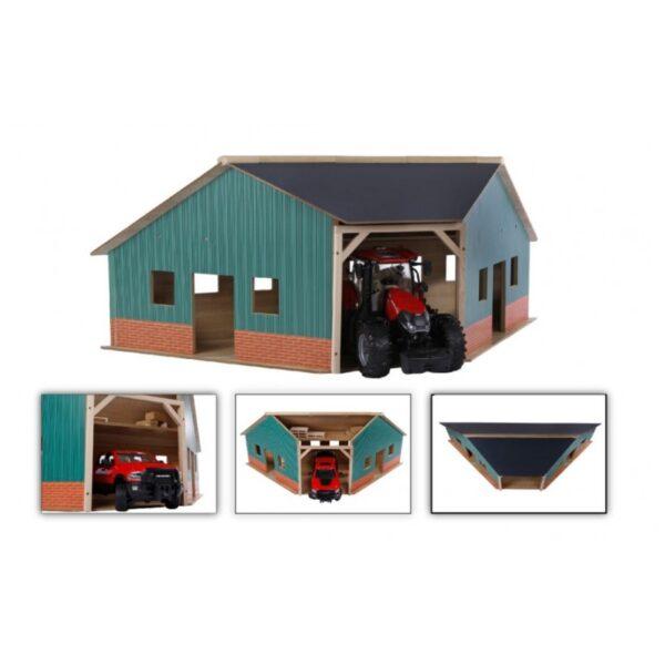 Kids Globe Traktor Garage Vinkel i træ